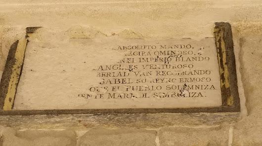 Placa para contar la historia de la inscripción de la Casa Consistorial