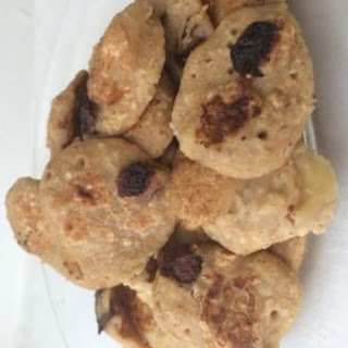 Banana and Chocolate Chip Peanut Butter Pancakes