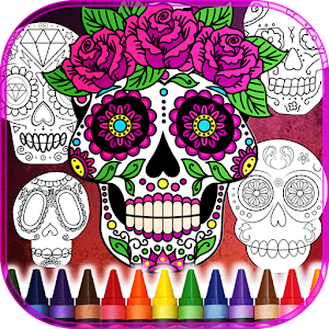 Sugar Skulls Color for Adult for PC and MAC