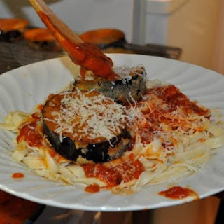 Fried Eggplant With Pasta.
