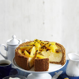 Baked Orange and Passionfruit Cheesecake