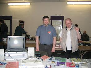 Photo: Colin Piggot and David Ledbury on the Quazar stand