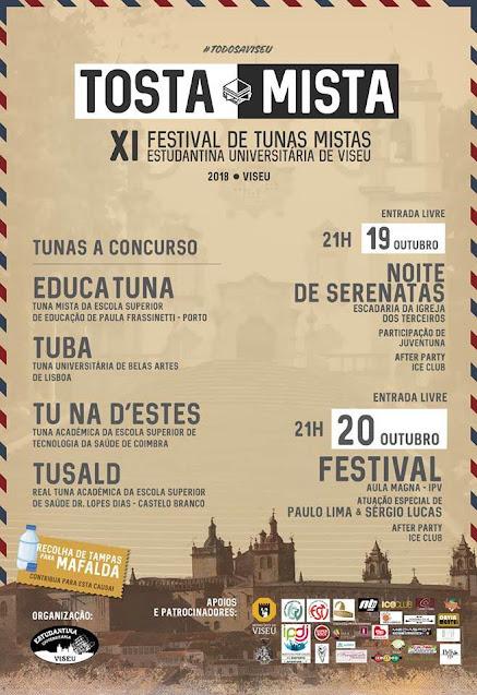 XI Tosta Mista - Festival de Tunas Mistas - Estudantina Universitária de Viseu