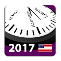 2017 US Holiday Calendar NoAds icon