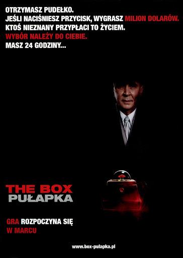 Tył ulotki filmu 'The Box. Pułapka'