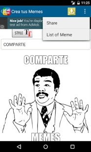 Erstellen und teilen Memes Screenshot