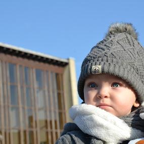 Blue by Els He - Babies & Children Child Portraits ( blue sky, winter, cold, blue eyes, child,  )