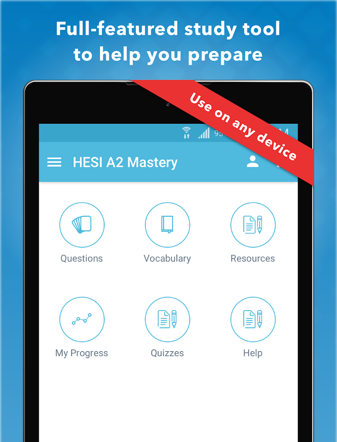 HESI A2 Entrance Mastery 2017- screenshot