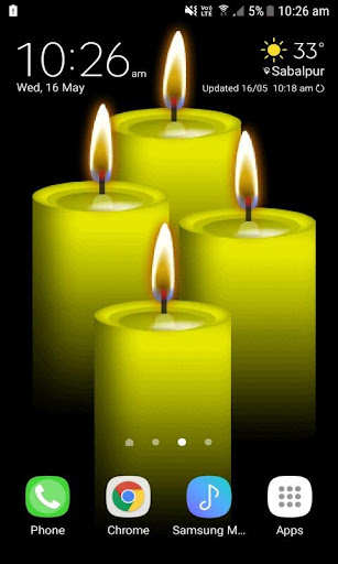 yellow candles live wallpaper screenshot 1