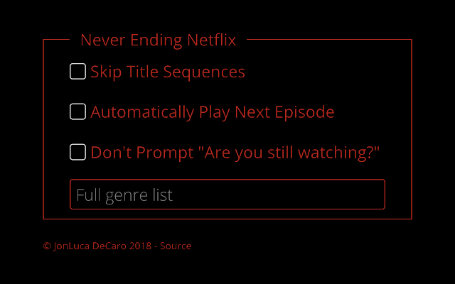 Never Ending Netflix Screenshot