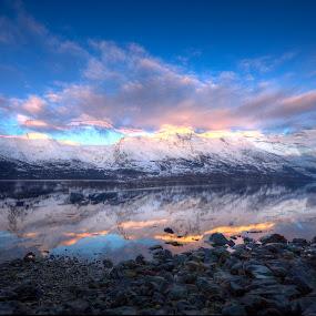 Afternoon light in Sørfjorden by Sigbjørn Fjellheim - Landscapes Sunsets & Sunrises ( hardanger )