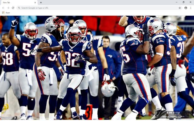 New England Patriots New Tab Theme