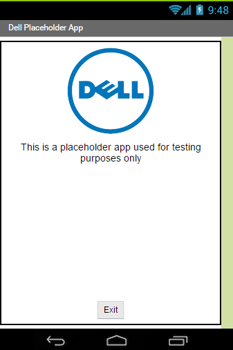 Dell App Distribution Test