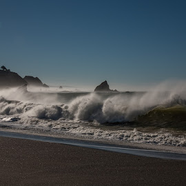Mendocino Waves by Mike Lee - Landscapes Beaches ( waves, surf, fort bragg, spray, mendocino coast, navarro beach, sea spray, navarro by the sea, waves crashing, navarro, beach, vacation, mendocino, crashing waves,  )