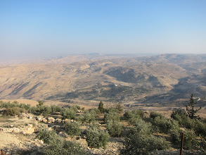 Photo: View from Mount Nebo, where Moses went to die