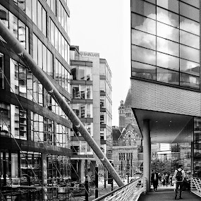 Surrounded  by Brian Egerton - Buildings & Architecture Office Buildings & Hotels ( church, hdr, cityscape, black and white, building, street photography, architecture )