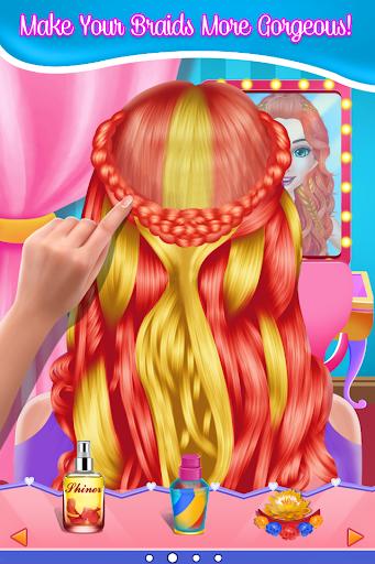 Fashion Braid Hairstyles Salon-girls games screenshots 3