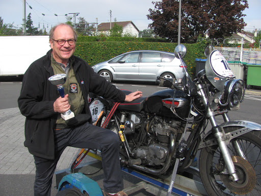 Robert Helt after is victory on the French Moto Tour 2016.
