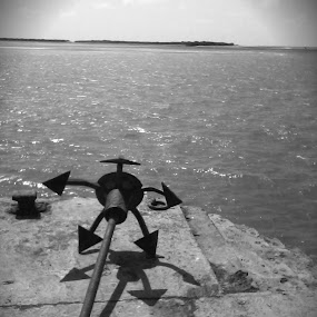 Anchor by the Shore by Naveed Dadan - Novices Only Objects & Still Life ( black and white, art, street, india, travel, people, portrait, man, photography, city )