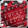 Red Heart Love Sweet Valentine Keyboard Theme