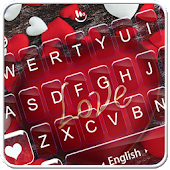 Red Heart Love Sweet Valentine Keyboard Theme