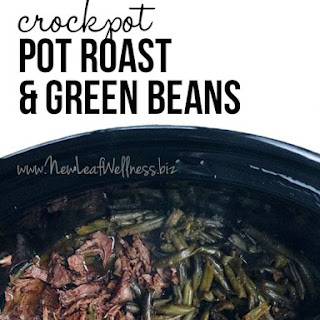 Crockpot Pot Roast with Green Beans