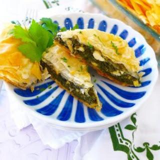 Easy Spanakopita (Greek Spinach Pie).
