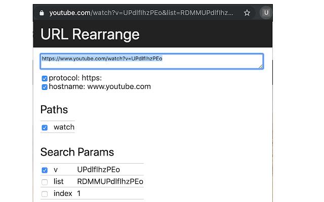 URL Rearrange