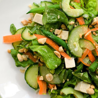 Chilled Tofu Salad with Miso-Ginger Vinaigrette