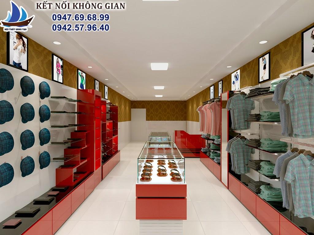 thiết kế cửa hàng thời trang tai hà nội