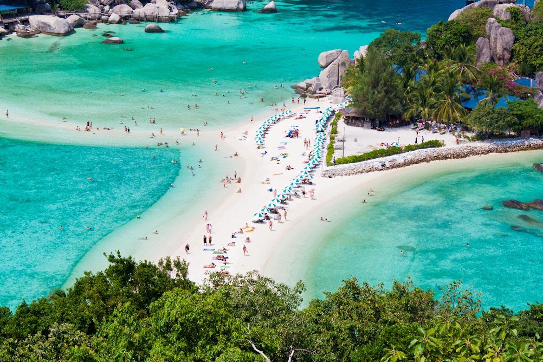 Snorkel Tour to Koh Nangyuan including Catamaran Cruise from Koh Samui to Koh Tao
