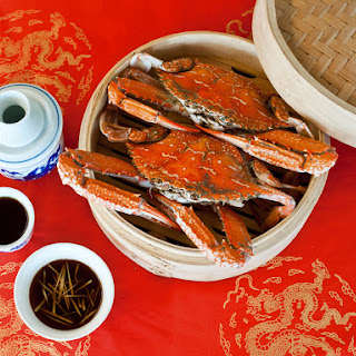 Steamed Crab With Chinkiang Vinegar and Ginger.