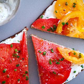 Heirloom Tomato Cream Cheese Toast Recipe