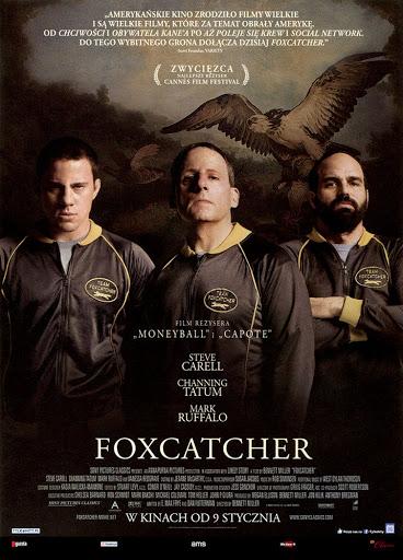 Przód ulotki filmu 'Foxcatcher'