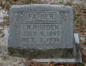 Photo: Isham Robert Rhoden son of Isham J Rhoden and Annie Ellen Cathcart / Husband of Mary Catherine Mobley