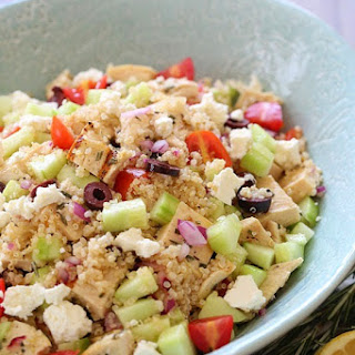 Grilled Mediterranean Chicken and Quinoa Salad.