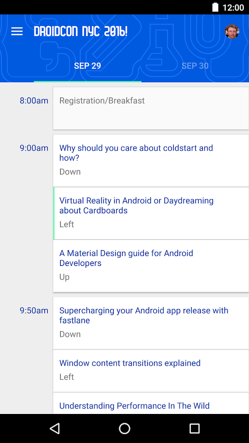 Droidcon NYC 2016- screenshot