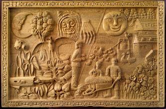 Photo: La noche y el día. Talla en madera. Woodcarving.  Para leer algo más en relación con esta obra ir al blog: http://tallaenmadera-woodcarving-esculturas.blogspot.com/2016/05/la-noche-y-el-dia.html