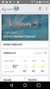 KHON2 WX - Radar & Forecasts- screenshot thumbnail