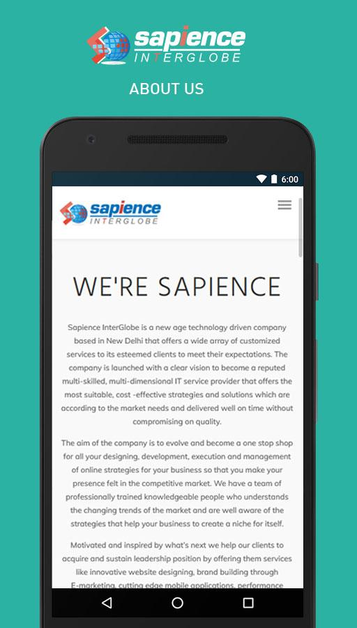 Sapience InterGlobe- screenshot
