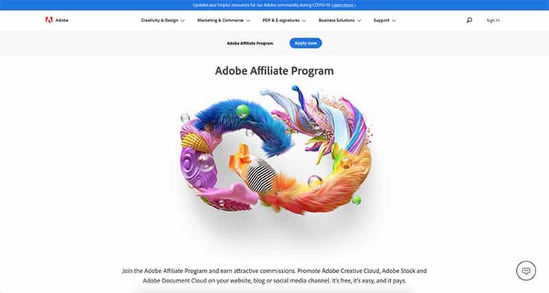 Adobe Affiliate Landing Page