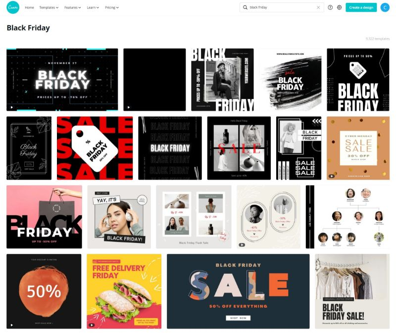 Canva Black Friday templates