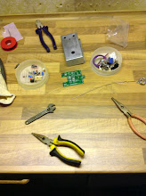 Photo: Ready to begin soldering resistors and capasitors