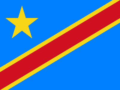 Bandeira da Republica Democrática do Congo