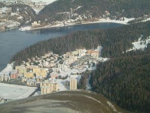 Photo: The Lej de San Murrezzan and part of St. Moritz http://www.swiss-flight.net