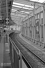 Photo: Waiting for the Shinkansen in Okayama City  I think waiting for a train to arrive or waiting to board a plane is my favorite part of traveling. To me, that time is the climax of anticipation for a trip, and as much as I love the actual travel, that climax of anticipation is about as good as it gets, only matched with those first few moments upon arrival to a new destination.  What is your favorite part of traveling?  Check out the full-res version here: http://lestaylorphoto.com/?p=168