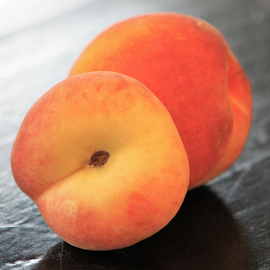 Virginia Peaches by Leah Zisserson - Food & Drink Fruits & Vegetables ( orange, fruit, peach, yellow, virginia, two,  )