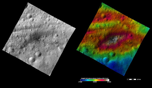 Topography and Albedo Image of Lucaria Tholus