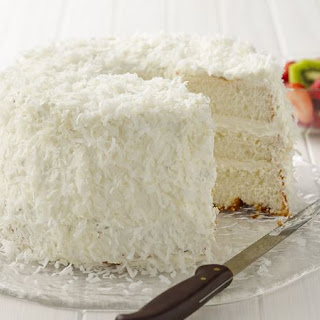 Key Lime Coconut Angel Cake.