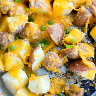 Easy Cheese and Ranch Potatoes.